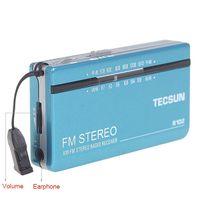 TECSUN R-102 FM stéréo / AM 2 Band Radio Pocket + écouteur Y4125L