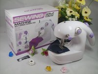 Wholesale 72pcs New Novelty Mini Electric Sewing Machine Operated Desktop Handheld Home Sartorius Helper For Housework GF478