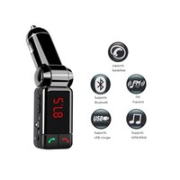 Wholesale Mini Portable Mp3 Bluetooth Car Kit FM Transmitter LCD USB Charger Handsfree For iPhone for Sansung