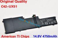 Wholesale Hot Sale Original Quality New Laptop Battery for ASUS UX51 UX51VZ U500VZ UX51VZA Series Zenbook C42 UX51 V mAh WH