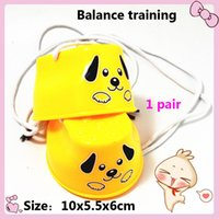 balance dog - Balance Training Toy Carton Dog Practical Pair Plastic Walker Walk Stilt Jumping Outdoor Fun Sports