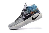 dyed fabric - Nike Kyrie Tie Dye All Star Basketball Shoes Starting Clolor Black White Grey Blue Swoosh Irving mens sneakers Eur