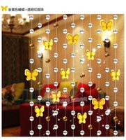 Wholesale m DIY Top quality Customied Glass beads curtain Blands Crystal Curtain Beads Shades Crystal Shutters