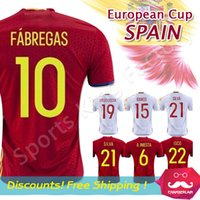 away soccer jersey - 2016 Euro cup Spain Jerseys away home soccer Jersey Thai Quality FABREGAS A INIESTA European Espana jersey DIEGO COSTA football shirts