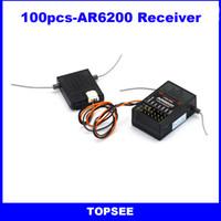 Wholesale 100pcs AR6200 Spektrum receiver Ghz ch RC satellite receiver for DX6i DX7 DX8 DX9 DSM2 Receiver
