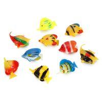 Wholesale Plastic Artificial Fishes Decorations for Aquarium Fish Tank Pieces
