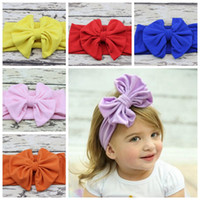 big bunny ears - new baby hair accessory Head wrap Blended cotton fabric Headwrap Big Bow Bunny Ears head band stretchy Turban Twist flower Hairband FD6542