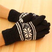 Wholesale G089 Mens Snow Gloves thicker section full finger gloves warm winter knit gloves for men