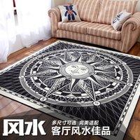 apollo god - Classical Black and white sun god Apollo pattern square carpet environmental protection non slip living room rug MMX1200MM