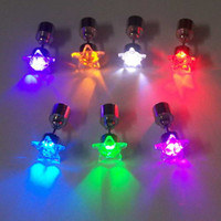 Wholesale 200pcs Flash earrings Hairpins Strobe LED ear ring Lights Strobe party items Magnets Fashion