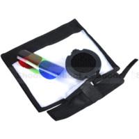 Grille Honeycomb 25/45 Grade + Couvercle + Rouge Vert Bleu Filtre couleur RVB + Snoot speedlite Flash Diffuseur Softbox Reflecteur réflecteur diffus