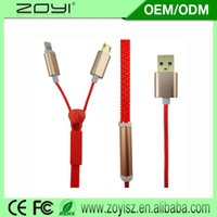 Wholesale Gift data Zipper combo Android data cable data cable Gift creative data cable supply all kinds of cable usb micro usb cable