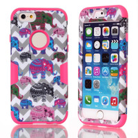 apple backgrounds - For Apple iPhone Plus S Plus iPhone6 Plus Hard Soft Elephants Gray Waves Background Rubber Armor Camo Hybird Hard full Case