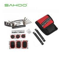 Wholesale SAHOO Cycling Tire Repair Kit Bike Tyre Repair Tools Set Bicycle Tyre Multifunctional Repair Tool Patch Rubber With Tool Bag
