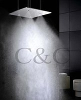 Wholesale 20 Inch Ceiling Mounted Brushed Atomizing And Rainfall Bathroom Shower Head With Arms L W