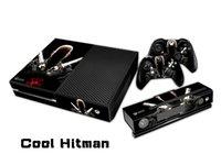 Pegatina protectora fresca Hitman Pegatinas / Pegatinas para xbox uno Consola + 2 Controllers + Kinect Skin