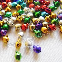 bell crafts - 2500PCS mm Jingle Bells Lacing bells Christmas decoration Promotion items DIY crafts Handmade accessories Mixed color