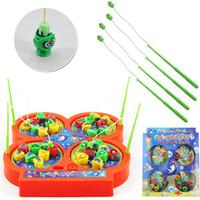 achat en gros de fish toy-Nouveautés Enfants Enfants électroniques Pet Toys Puzzle Pêche magnétique Rod Jeu plastique C185 Livraison gratuite