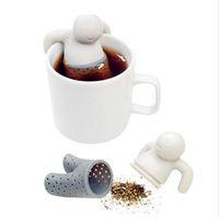 Wholesale 2015 Popular Practical Teapot Cute Mr Tea Infuser Tea Strainer Coffee Tea Sets