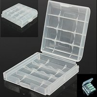Wholesale Hot Sell Plastic Battery Case Holder Storage Box Cover for Rechargeable AA AAA Bat Organizer Convenience Good Quality