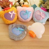 hand and foot - Mini pieces Lovely Heart Shape Hands Warmer Water Bag Cute Hot Water Bottle Heater Warm Hands And Feet