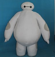 Wholesale with one mini fan inside the head mb150313 inflatable big hero baymax robot mascot costume for adults