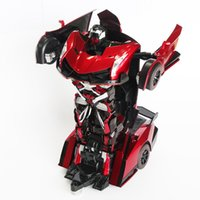 Wholesale hot sale new arrival micro Rc Cars Drift Deformation Robot Toy Remote Control Car Children Electric Remote Simulation a key Christmas Gifts