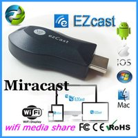 Cheap iPush TV WiFi HDMI Dongle EzCast M2 W2 Miracast DLNA Airplay Receiver 1080P Multi-screen Sharing For Android IOS Windows Smart Devices