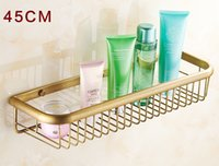 angle shelving - Antique Brushed bathroom shelves Storage Rack Angle Shelf Brass Material European Style BS002