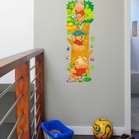 adhesive rulers - cm Ruler Kids wall stickers Lovely WTP Bear butterflies Kids Growth Chart Height Tower wall sticker TY508