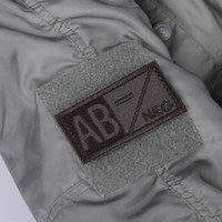 ab positive - 3D Military Woodland Blood Type Patch OD Green A B AB O Positive Hook NEG Coyote Tan Embroidery Cloth Standard Armbands