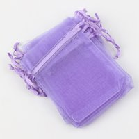 Jewelry Pouches,Bags organza bags wholesale - MIC Lavender x9cm X12cm X18cm Organza Bag Jewelry Gift Pouches Bags For Wedding favors beads jewelry
