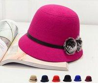 2015 New Style Automne Hiver Lady chapeaux princesse Hat Big Wool Plush Acessoires Tendance Vintage Chapeaux