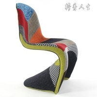Wholesale Luxury European Style furniture designer fashion fabric soft roll banquette chair Panton Chair S chair dining chair color