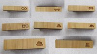 Wholesale New Glasses Tie Bar Novelty Wooden Hats Tie Clips Gift For Men Jewelry Accessories Eight Styles