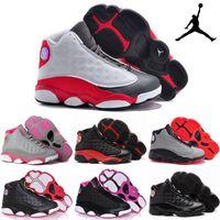 sh - Nike Air Jordan XIII Retro Basketball Shoes Children s Athletic Shoes Boys Girls Cute Kids High Quality Leather Cheap Babys Sport Sh