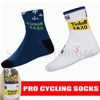 Wholesale Discounted Pro Team TINKOFF SAXO BANK coolmax men sock cycling bicycle socks meias calcetines ciclismo mtb Women breathable