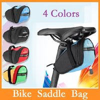 Wholesale Roswheel Outdoor Cycling Mountain Bike Bicycle Saddle Bags Back Seat Tail Pouch Package Quick Release Black Green Blue Red