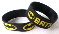 batman rubber bracelet - New Popular Fashion Black color Batman logo Style Silicone Rubber Wide Wristband Bracelet