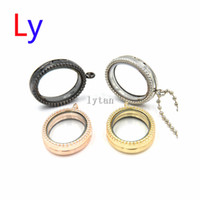 ballchain necklace - 2015 New Mixed color oval floating locket charms pendant necklace with mm ballchain free LFP0176