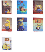 Wholesale Despicable Me Pu Leather Case Cover With Stand Holder Cute Cartoon For iPad mini iPad air Colofrul factory price