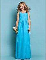 Cheap Junior Bridesmaids Chiffon Dresses Best Junior Bridesmaids Dresses Dark Sky Blue