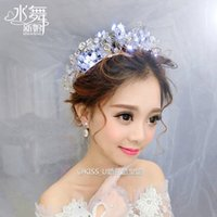 adorn dance - Water dance shine tire all hand crystal beaded crown wedding dress accessories adorn hair band