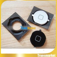 Wholesale High Quality New Home Button Key With Rubber Spacer For iPhone S Black White Home Menu Return Key t22