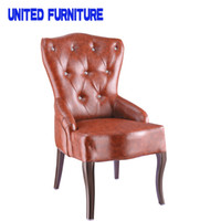 accent chairs - French designer metallic iron leather chair Accent chair occasional chairs modern sofa Dining room furniture home furniture