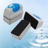 Wholesale 2015 New fashion Hot Magnetic Aquarium Fish Tank Glass Algae Scraper Cleaner Floating Clean Brushes high quality J1182
