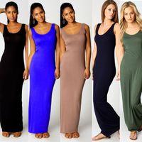 Wholesale 2015 New Fashion Women sexy Dress Celebrity Party Tank Top Ankle Length Long Maxi Dress bodycon Clubwear Ladies Casual Dress SJ1129