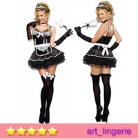 Wholesale Sexy Lingerie Game Uniform Maid Outfit Role Clothes Sexy Maid Service Dress Cosplay Costume for Women EU811