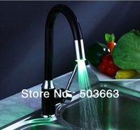 Wholesale 3 colors chrome sinish kitchen sink mixer tap faucet led faucet vanity faucet b