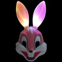 anime girl mask - Shiny Pink Rabbit LED Mask Game Anime Cartoon PVC Girls Mask Cosplay Performance Decoration Mask Children Toys Gifts SD354 HOT
